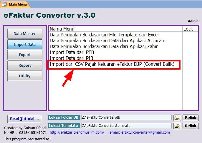 Efaktur Pajak Converter Scan Barcode Qr Code E Faktur Import